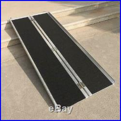 Safety 6' Ft Aluminum Loading Ramp Folding Wheelchair Scooter Mobility Black US
