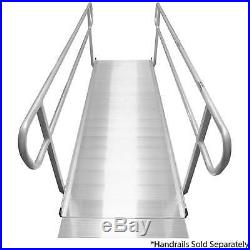 Titan 10' Aluminum Wheelchair Entry Ramp Solid Surface Scooter Mobility Access