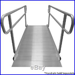 Titan 8' Aluminum Wheelchair Entry Ramp Solid Surface Scooter Mobility Access