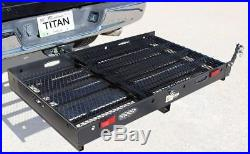 Titan Ramps Hitch Mounted Wheelchair Scooter Mobility Carrier Medical Rack Ramp