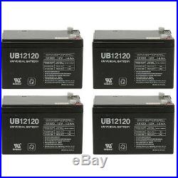 UPG 4 Pack 12V 12Ah Wheelchair Mobility Scooter Sealed AGM Battery