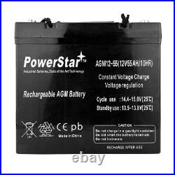 UPG UB12550 12V 55Ah Scooter Wheelchair Mobility Deep Cycle SLA AGM Battery