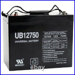 UPG UB12750 12V 75AH Internal Thread Battery for Scooter Wheelchair Mobility
