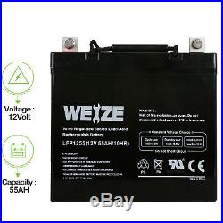 Weize 12V 55AH 22NF Battery For Scooter Wheelchair Mobility SLA AGM Deep Cycle