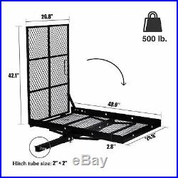 Wheelchair Carrier Mobility Scooter Foldable Rack Disability Medical Ramp 500lbs