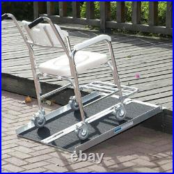 Wheelchair Ramp Aluminum Portable Medical Scooter Carrier Mobility Threshold US