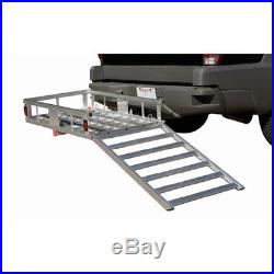 Wheelchair Scooter Cart Hitch Mobility Aluminum Carrier Detatchable Ramp