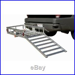 Wheelchair Scooter Mobility 500 Lb Aluminum Carrier Detachable Ramp