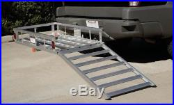 Wheelchair Scooter Mobility 500 Lb Aluminum Carrier Detachable Ramp Ship