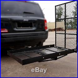 Wheelchair Scooter Mobility Carrier Hitch Trailer Disability Medical Ramp Mount