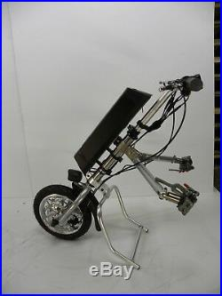 Wheelchair motor attachment, wheel cycle, electric wheelchair, mobility scooter