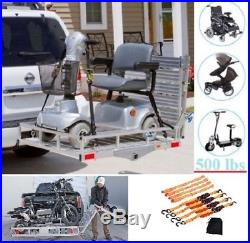 X Large Mobility Foldable Carrier Hitch Rack Ramp Heavy Duty Wheelchair Scooter