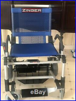 Zinger Electric Wheelchair Mobility Scooter Folding Power Chair Mint Condition